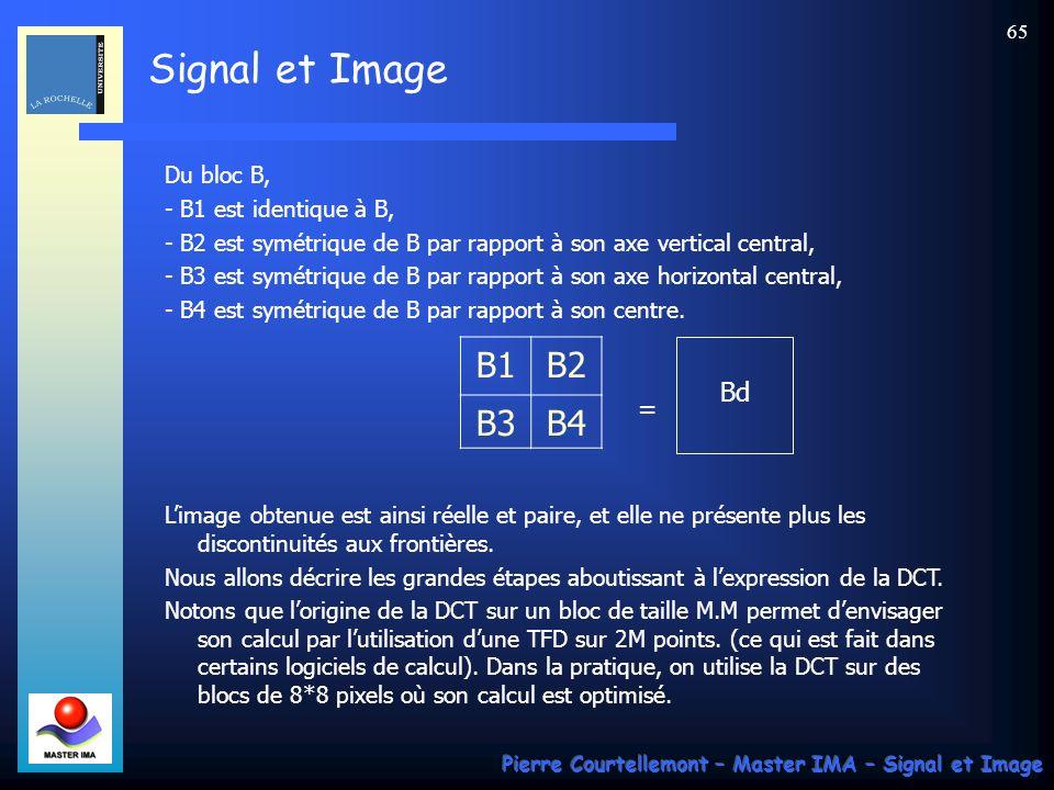 B1 B2 B3 B4 Bd = Du bloc B, - B1 est identique à B,