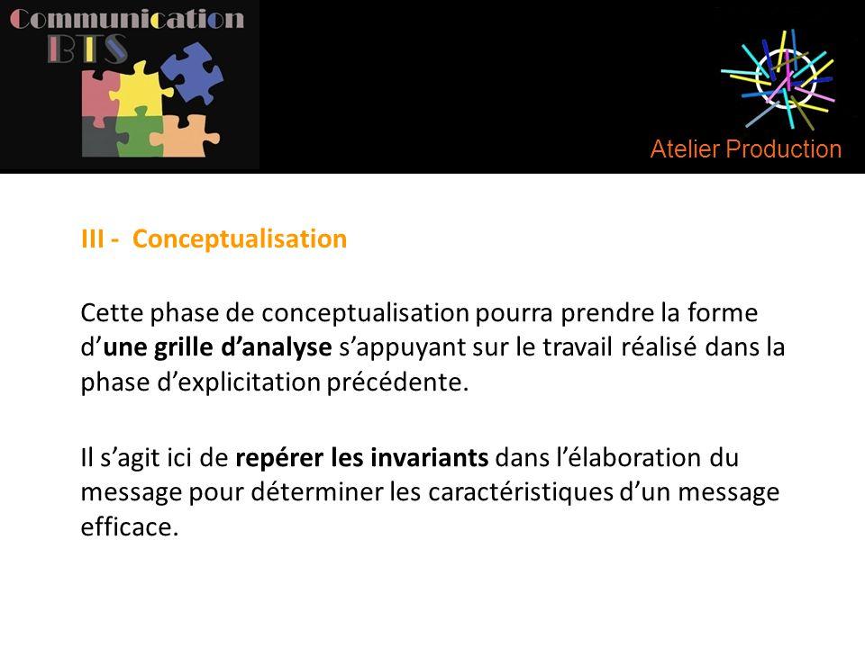 III - Conceptualisation