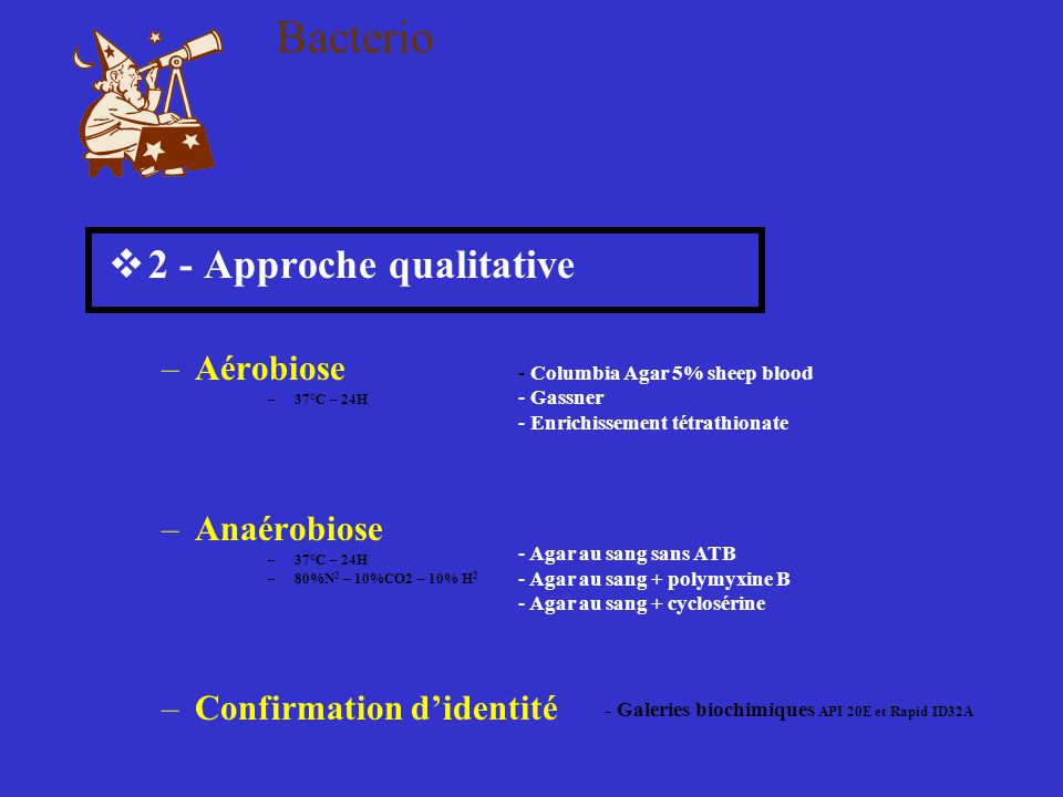 Bacterio 2 - Approche qualitative Aérobiose Anaérobiose