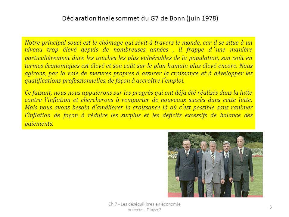Déclaration finale sommet du G7 de Bonn (juin 1978)