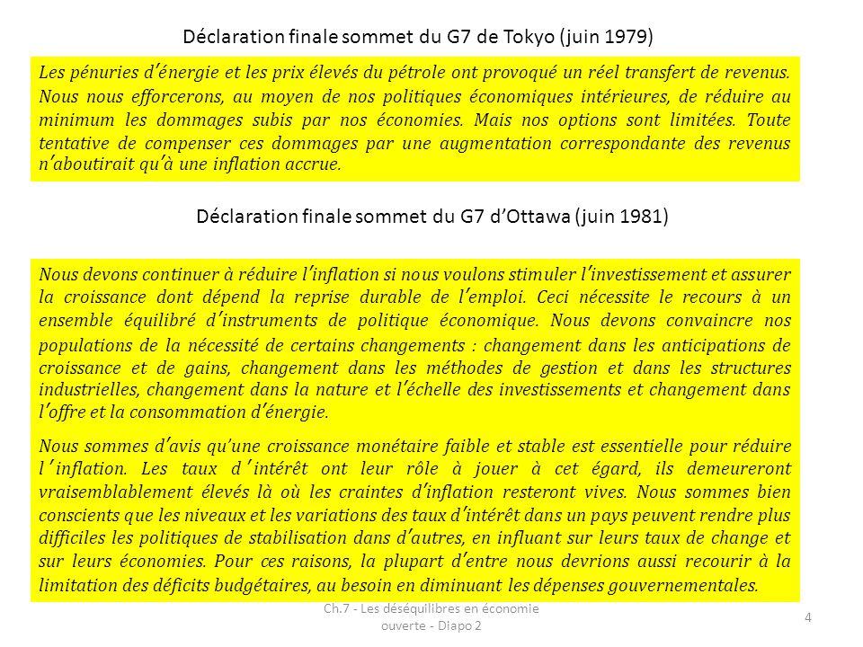 Déclaration finale sommet du G7 de Tokyo (juin 1979)