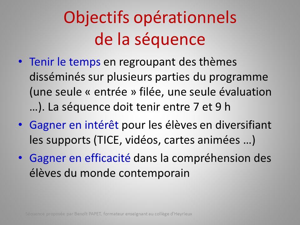 Objectifs opérationnels de la séquence