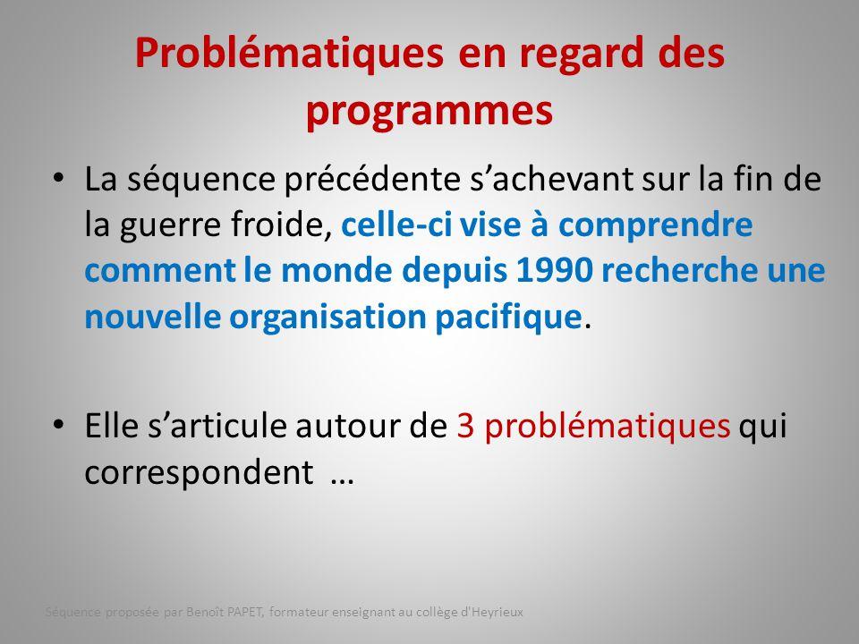 Problématiques en regard des programmes