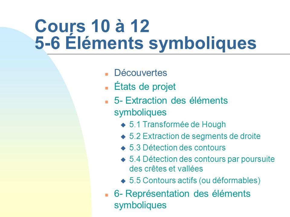 Cours 10 à 12 5-6 Éléments symboliques