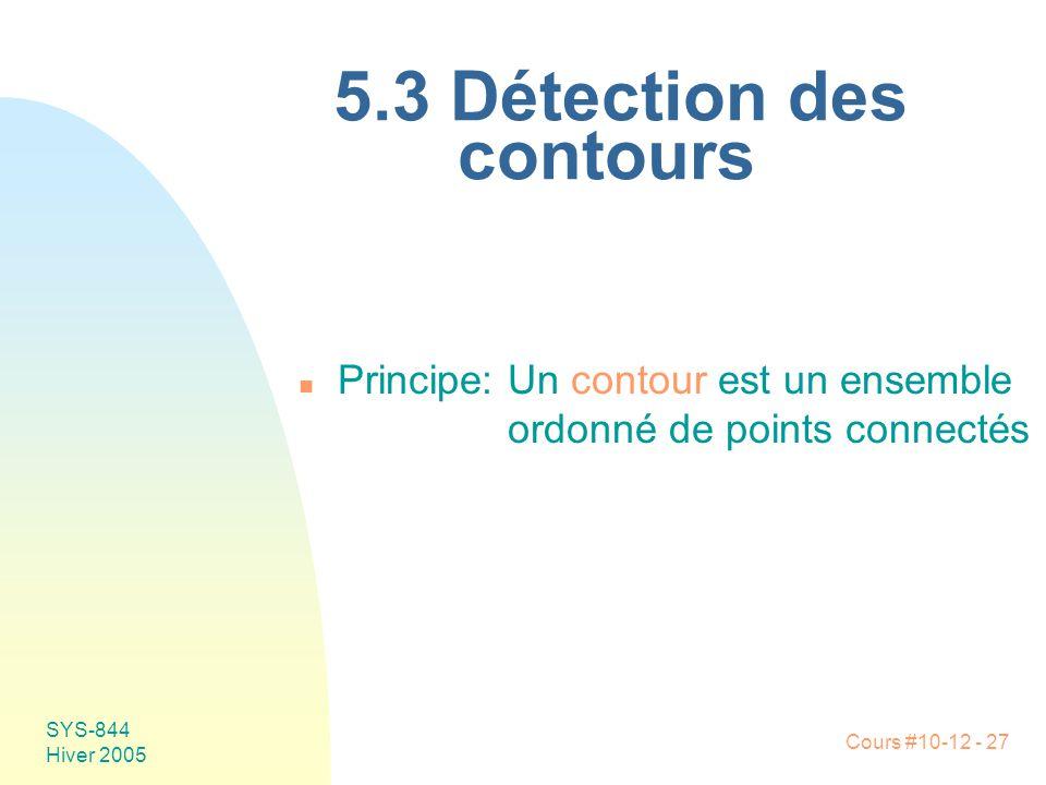 5.3 Détection des contours