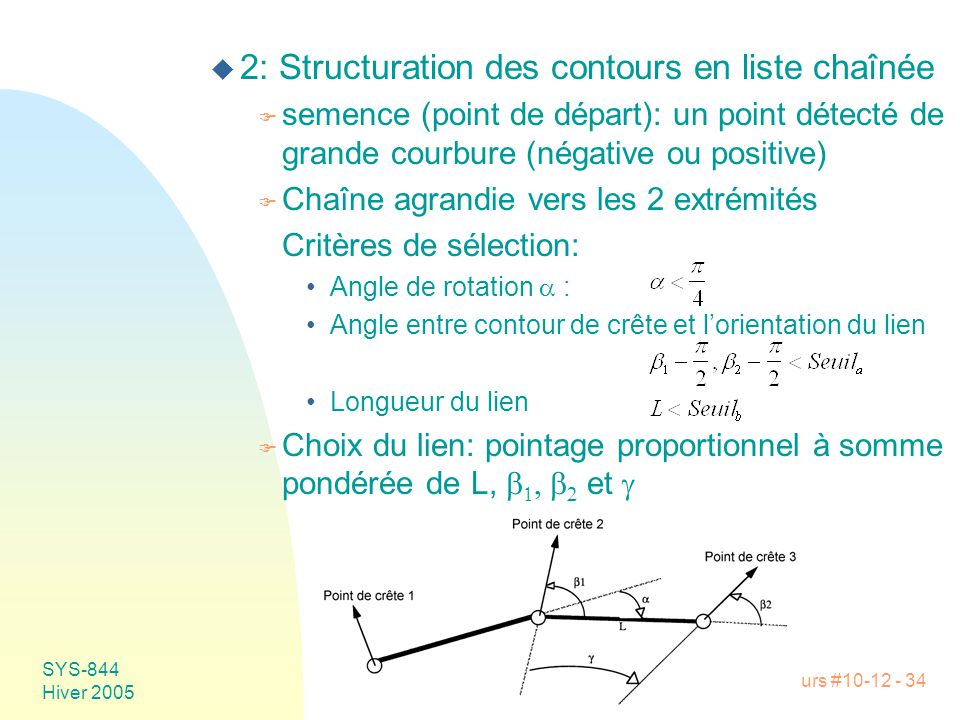2: Structuration des contours en liste chaînée