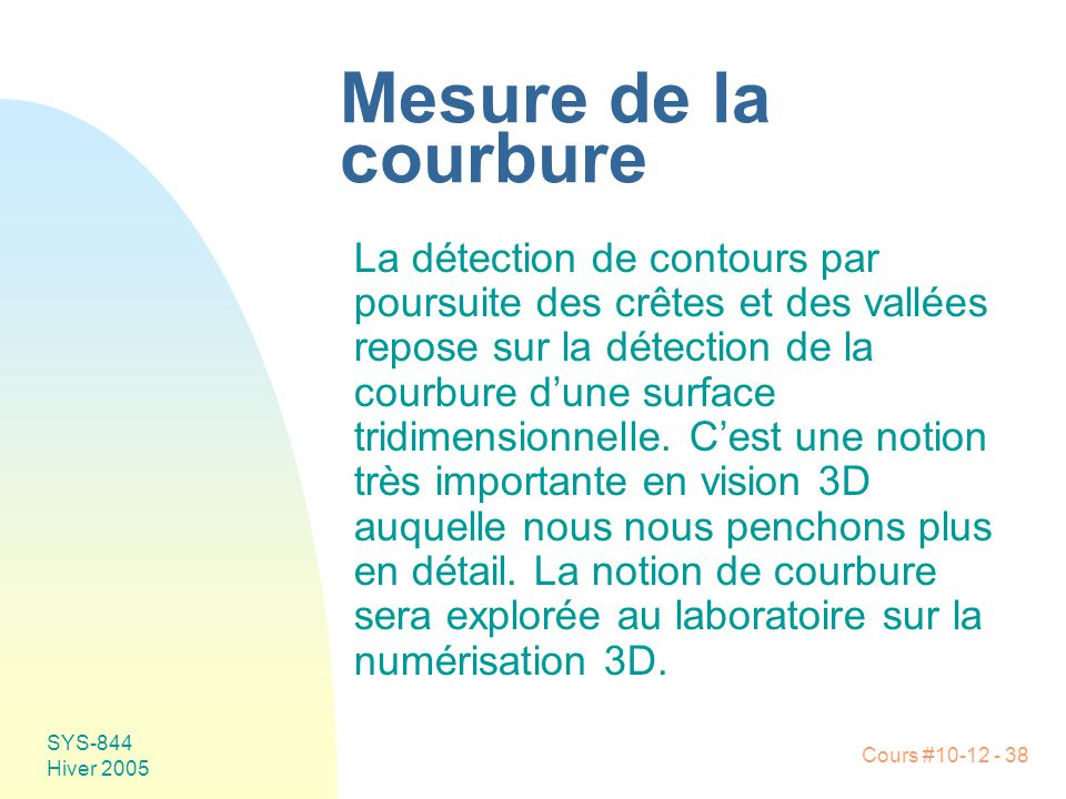 Mesure de la courbure
