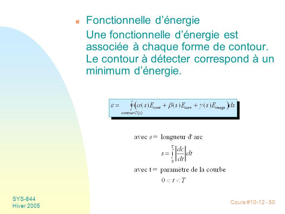 Fonctionnelle d'énergie