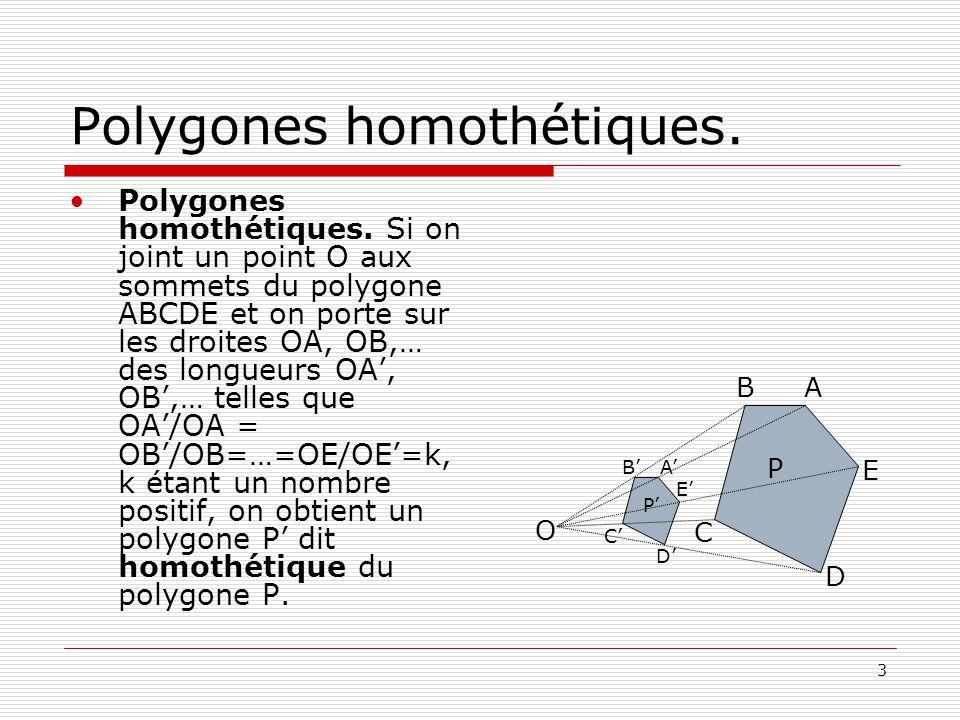 Polygones homothétiques.