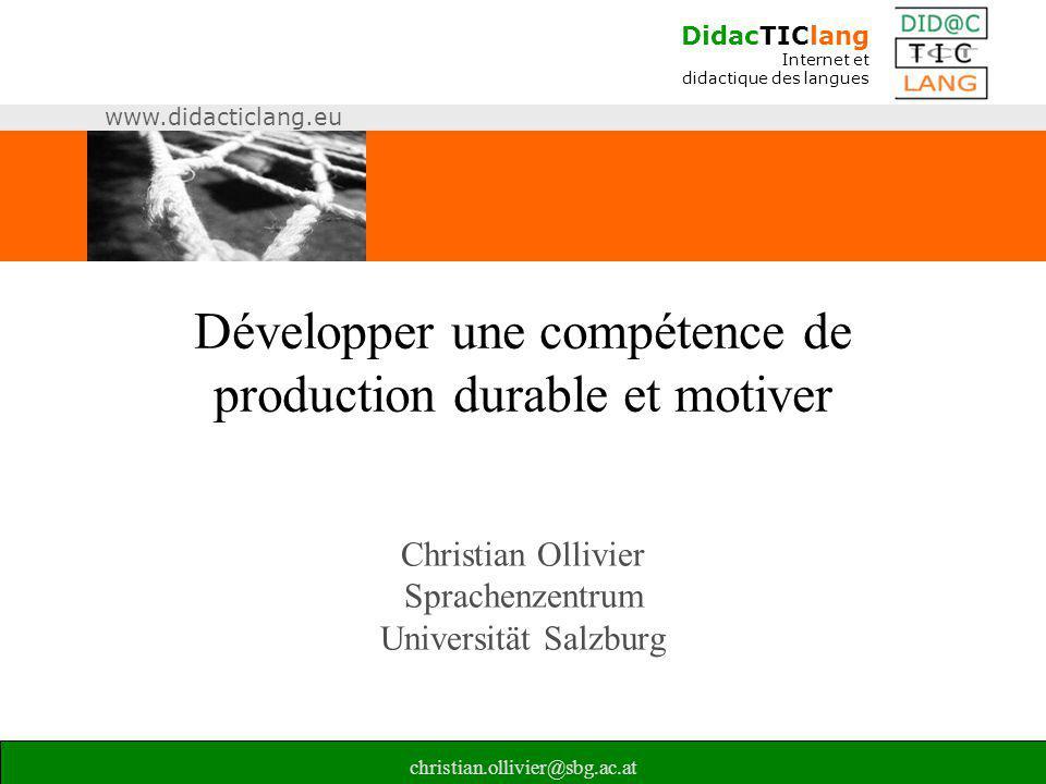 Développer une compétence de production durable et motiver