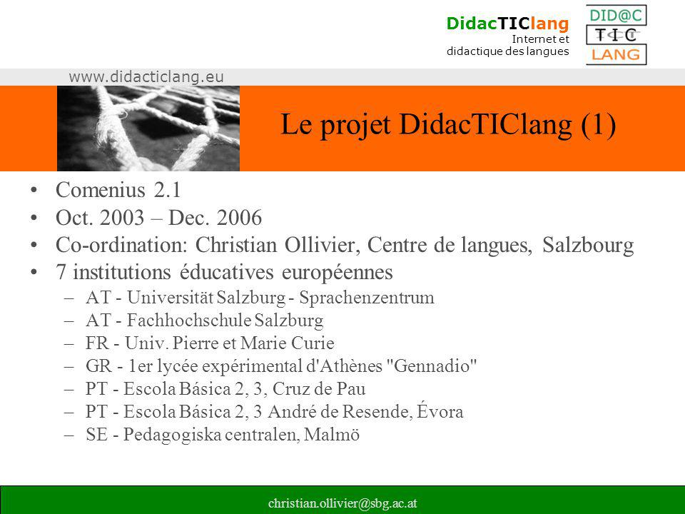 Le projet DidacTIClang (1)