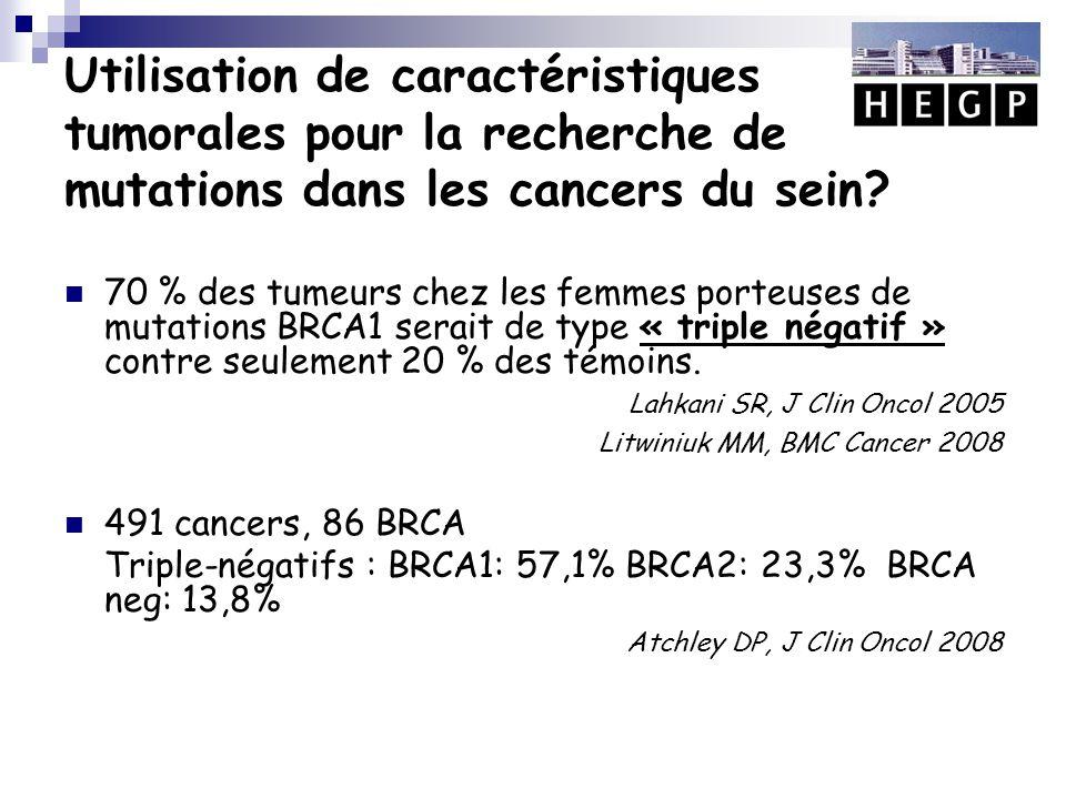 Utilisation de caractéristiques tumorales pour la recherche de mutations dans les cancers du sein