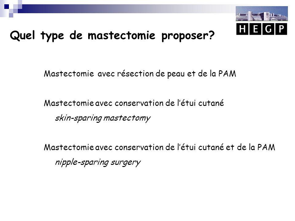 Quel type de mastectomie proposer