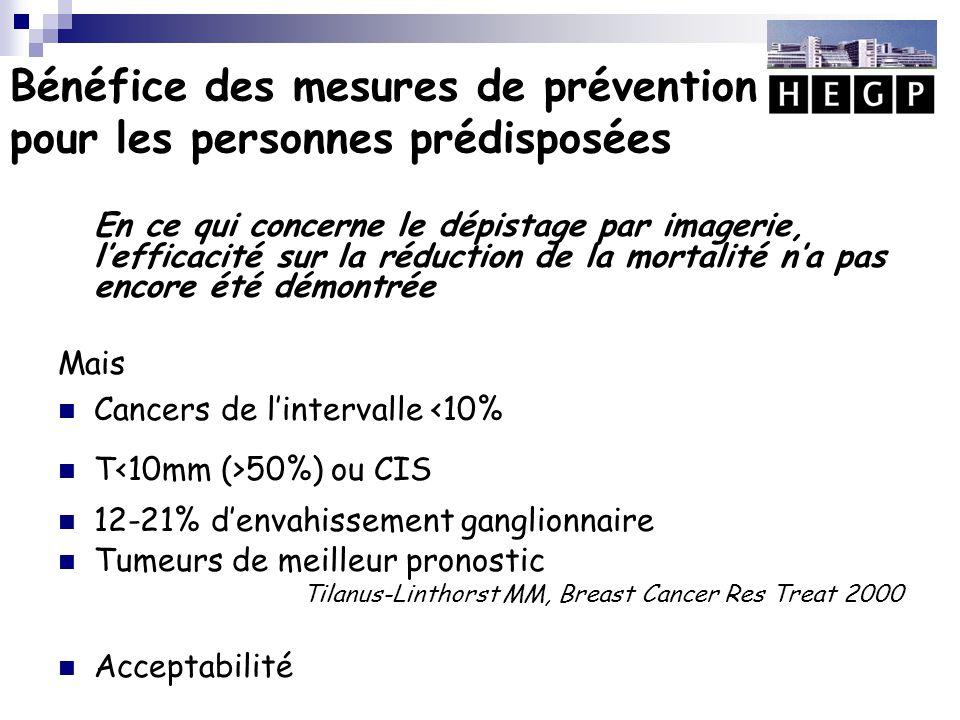 Bénéfice des mesures de prévention pour les personnes prédisposées