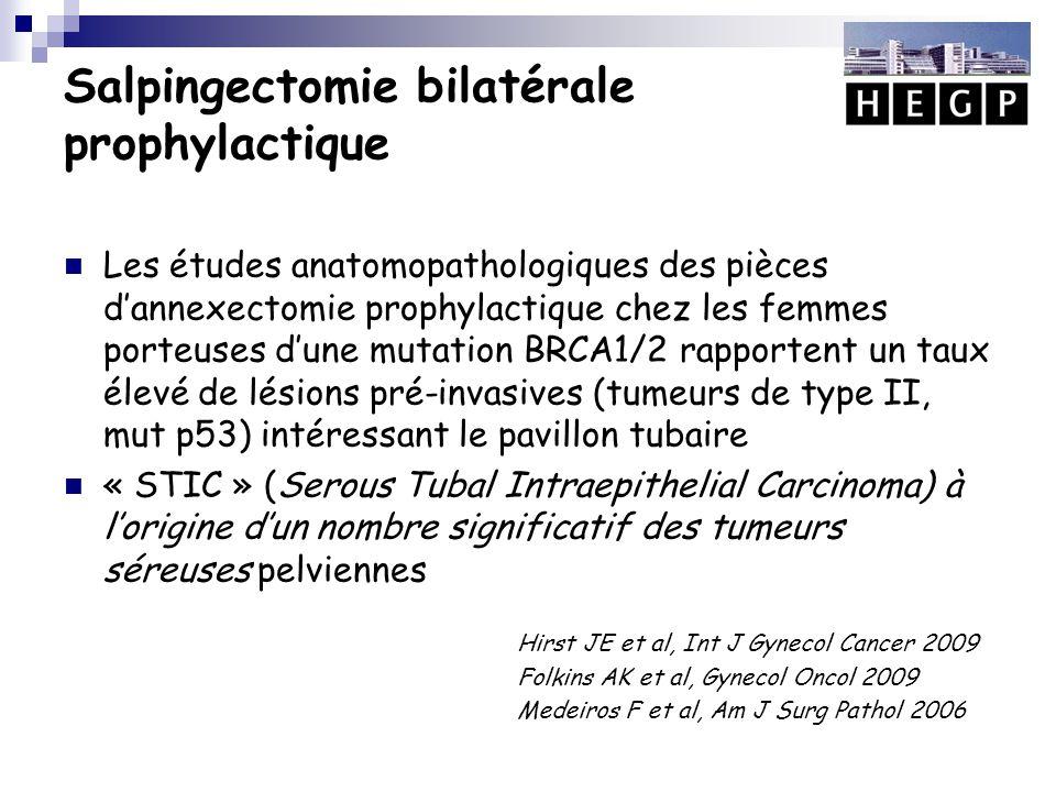 Salpingectomie bilatérale prophylactique