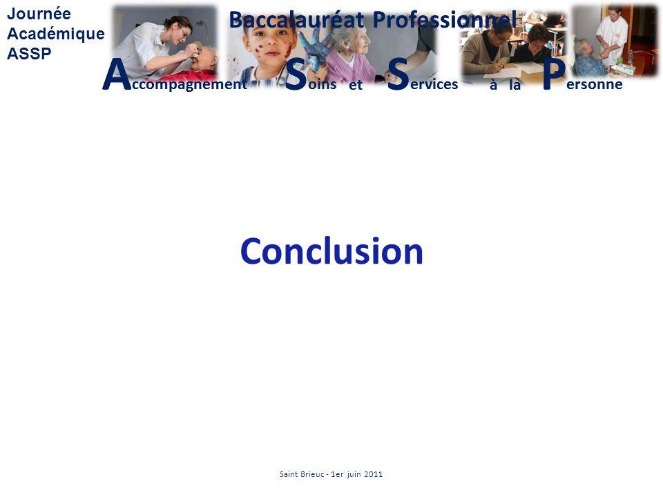 Conclusion Saint Brieuc - 1er juin 2011