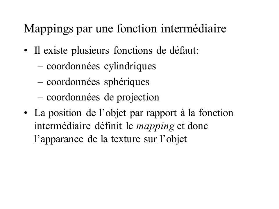 Mappings par une fonction intermédiaire