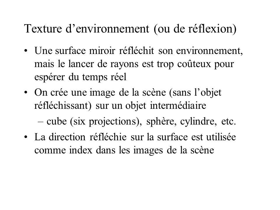 Texture d'environnement (ou de réflexion)