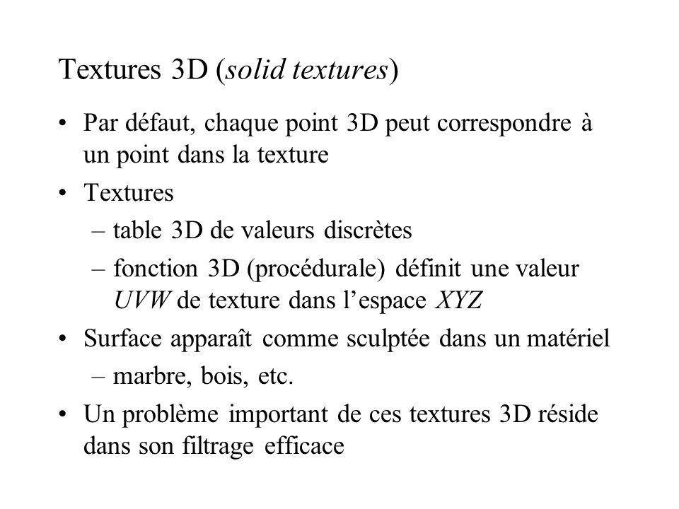 Textures 3D (solid textures)