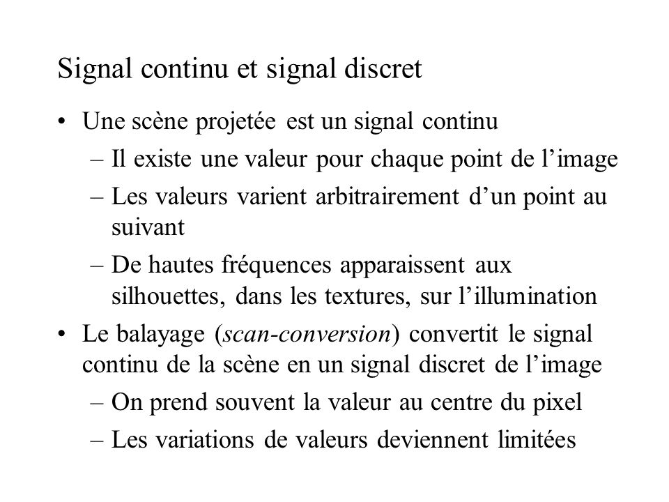 Signal continu et signal discret