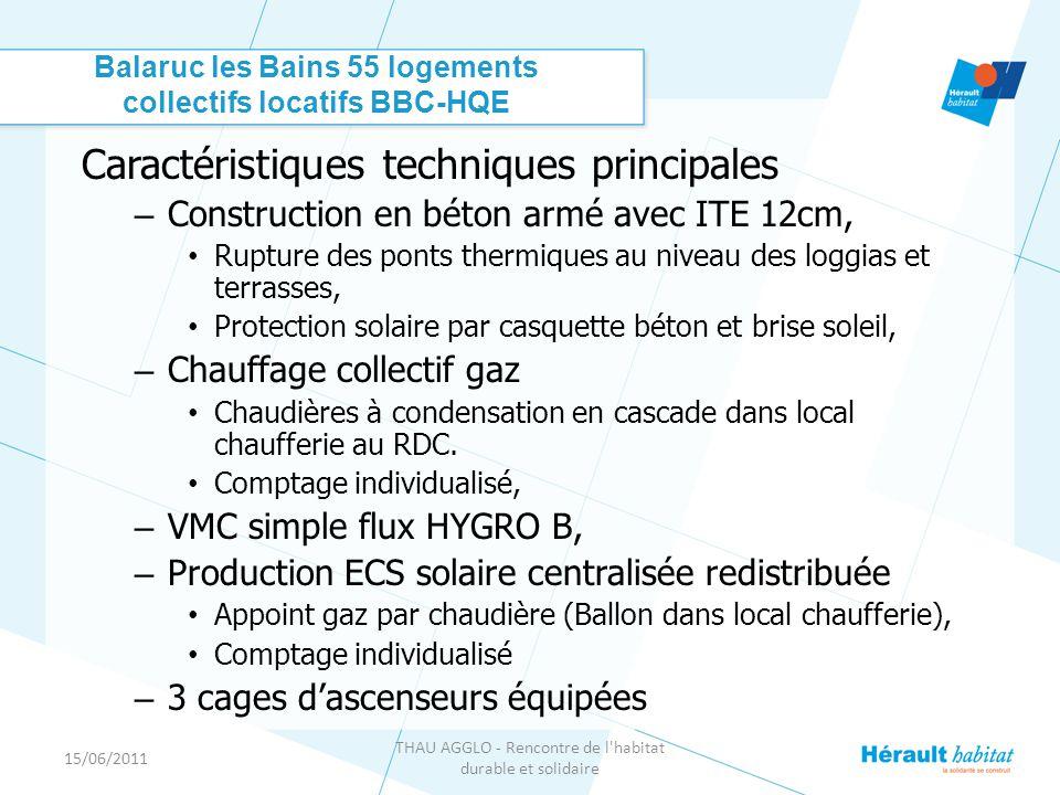 Balaruc les Bains 55 logements collectifs locatifs BBC-HQE