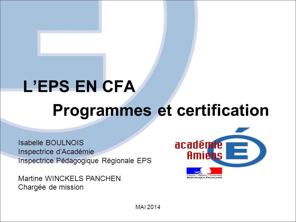 Programmes et certification