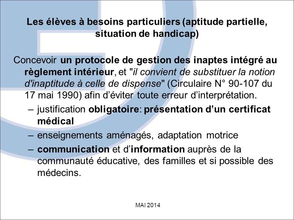 justification obligatoire: présentation d'un certificat médical