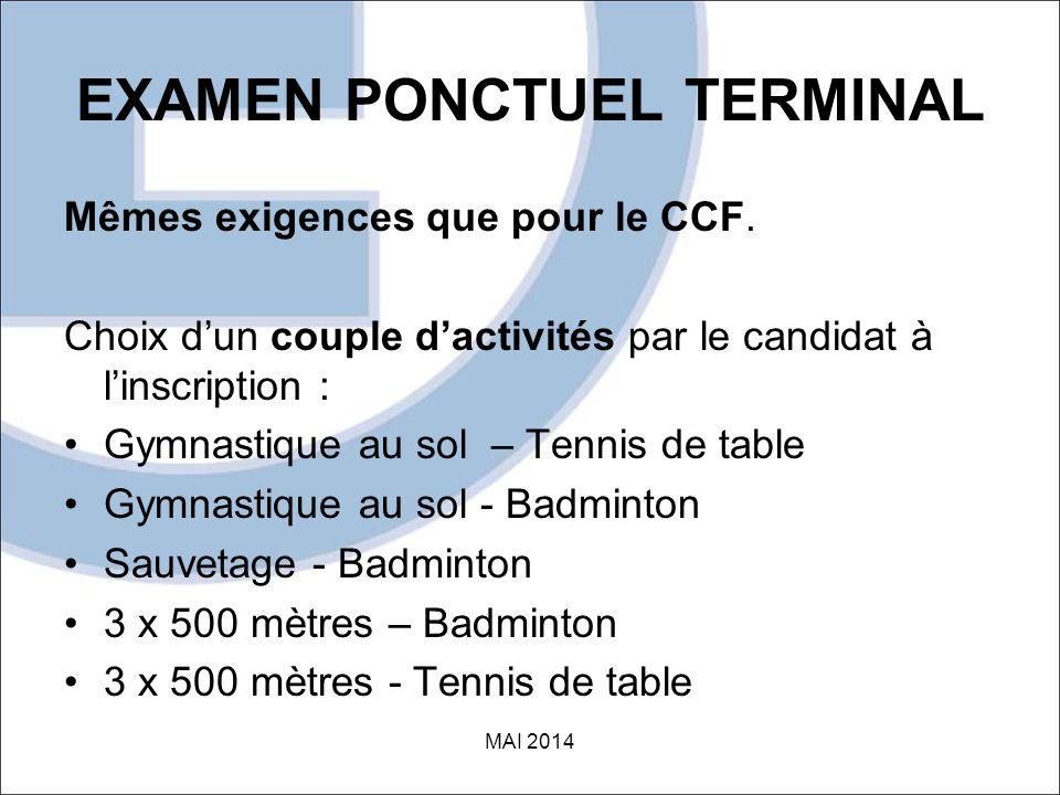 EXAMEN PONCTUEL TERMINAL