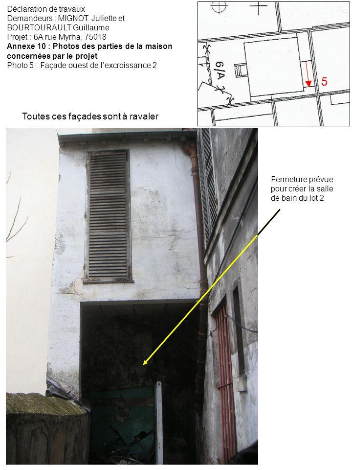 5 Toutes ces façades sont à ravaler Déclaration de travaux