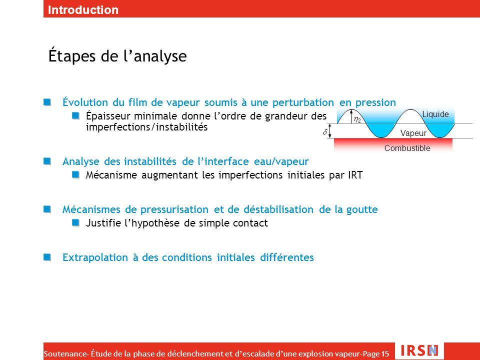 Étapes de l'analyse Introduction