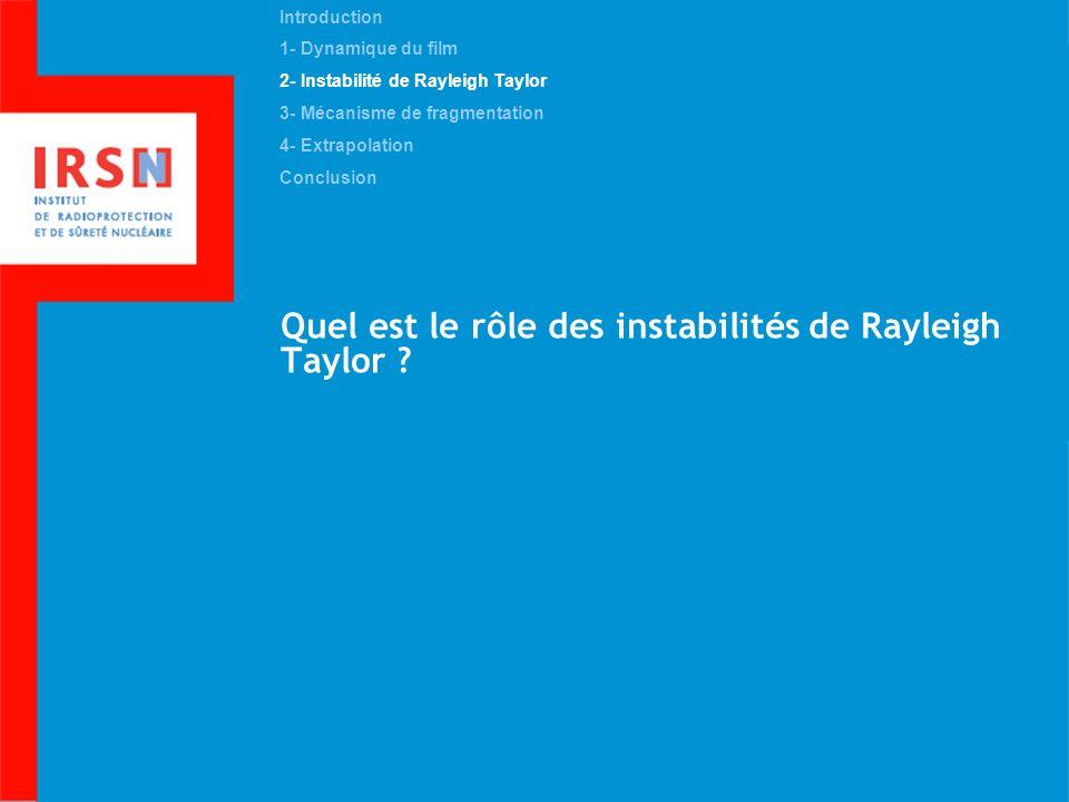 Quel est le rôle des instabilités de Rayleigh Taylor
