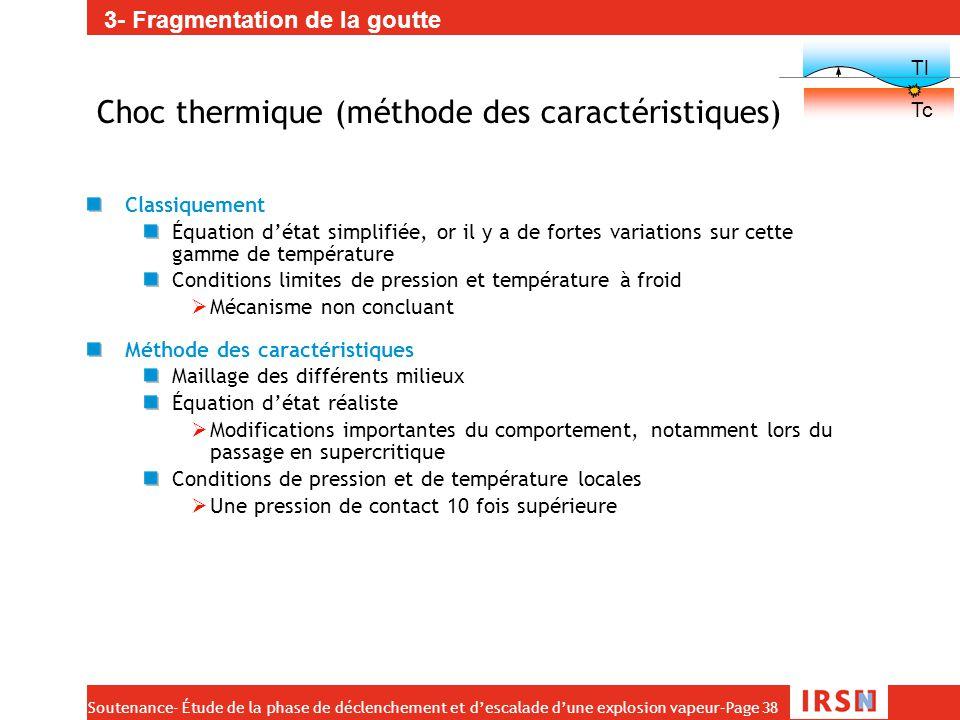 Choc thermique (méthode des caractéristiques)