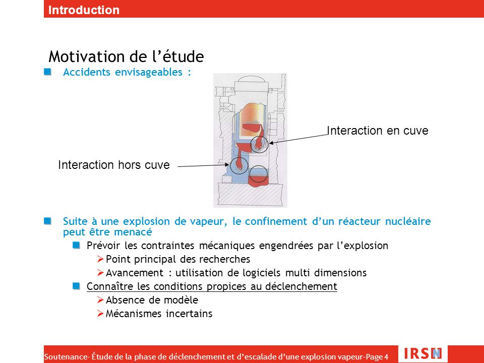 Motivation de l'étude Introduction Interaction en cuve