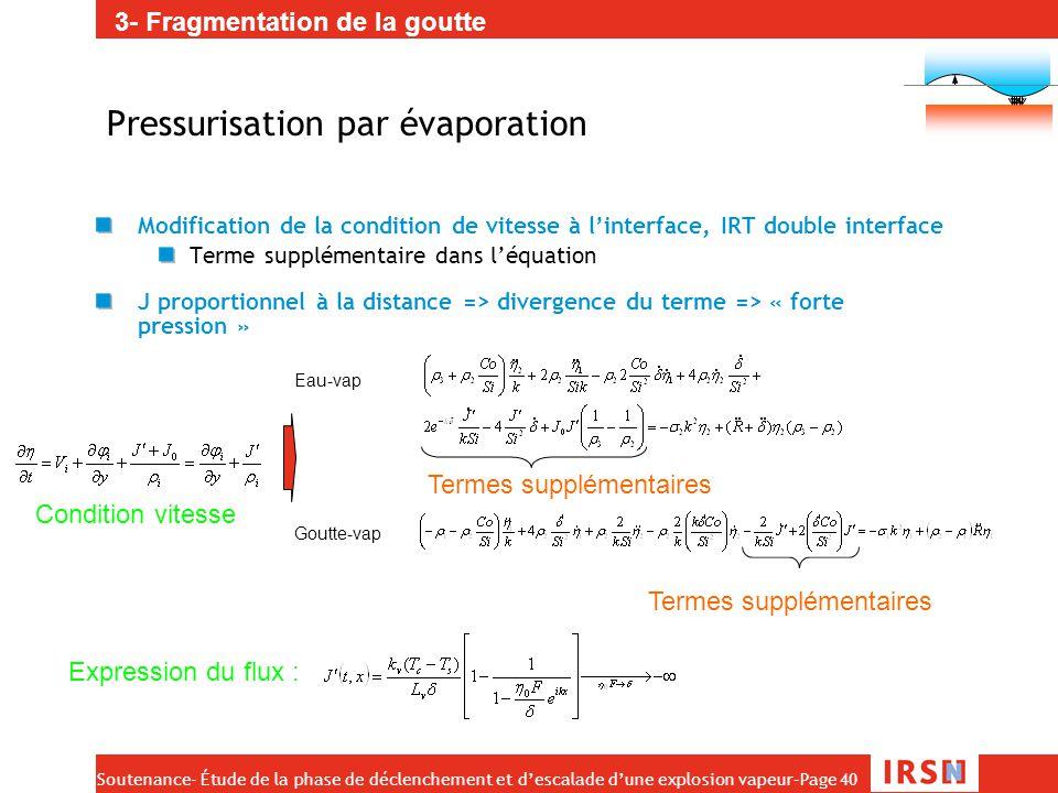 Pressurisation par évaporation