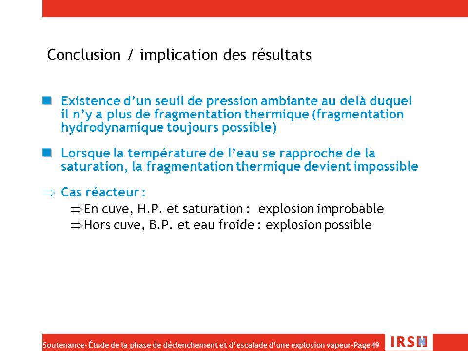 Conclusion / implication des résultats