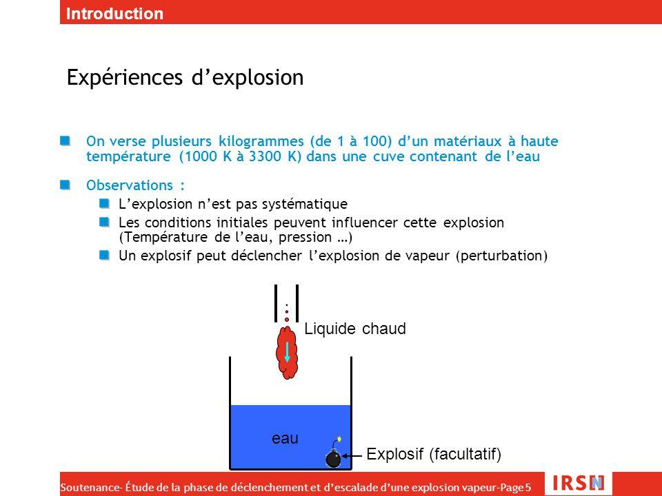 Expériences d'explosion