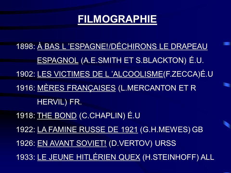 FILMOGRAPHIE 1898: À BAS L 'ESPAGNE!/DÉCHIRONS LE DRAPEAU