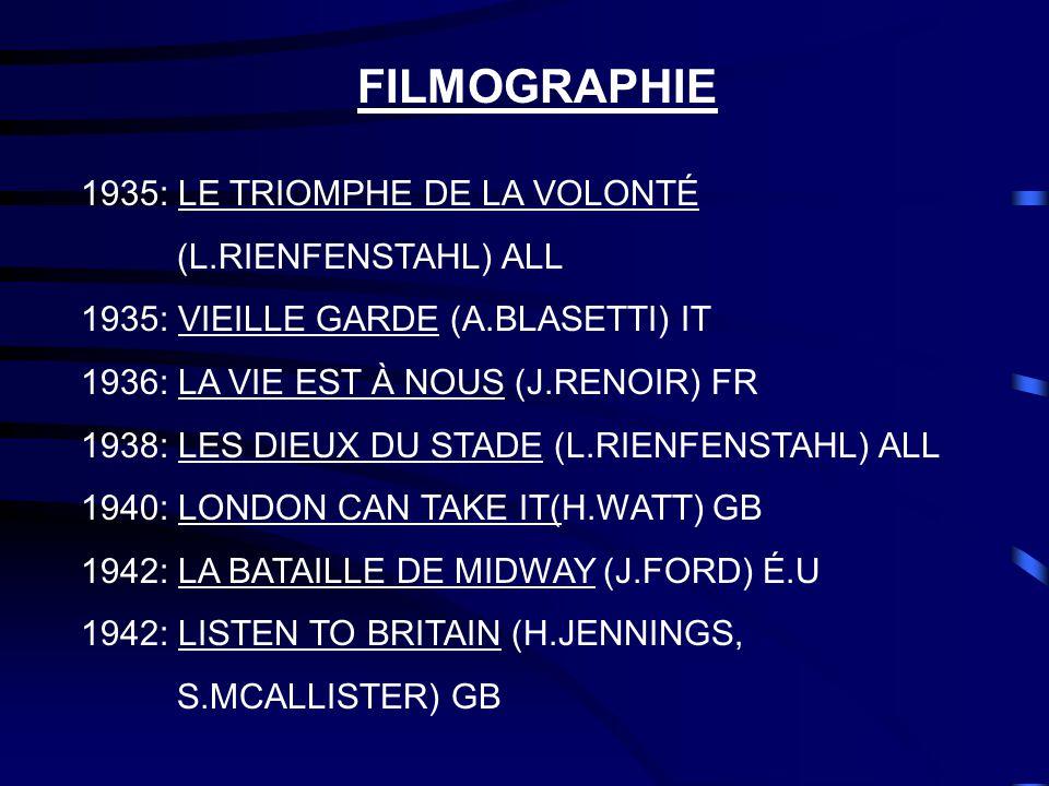 FILMOGRAPHIE 1935: LE TRIOMPHE DE LA VOLONTÉ (L.RIENFENSTAHL) ALL