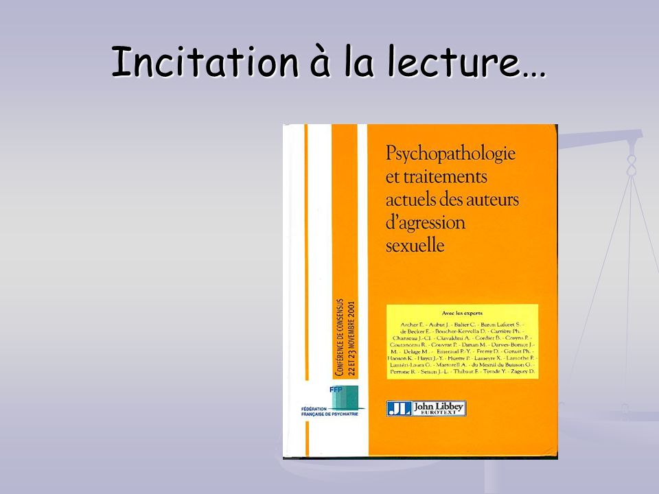 Incitation à la lecture…