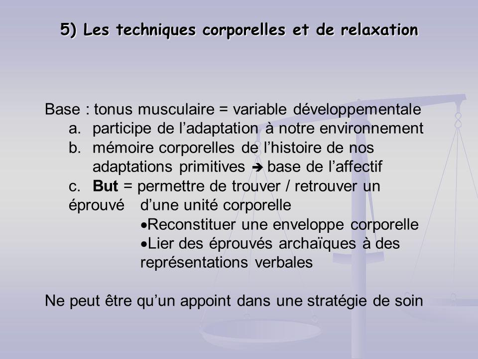 5) Les techniques corporelles et de relaxation