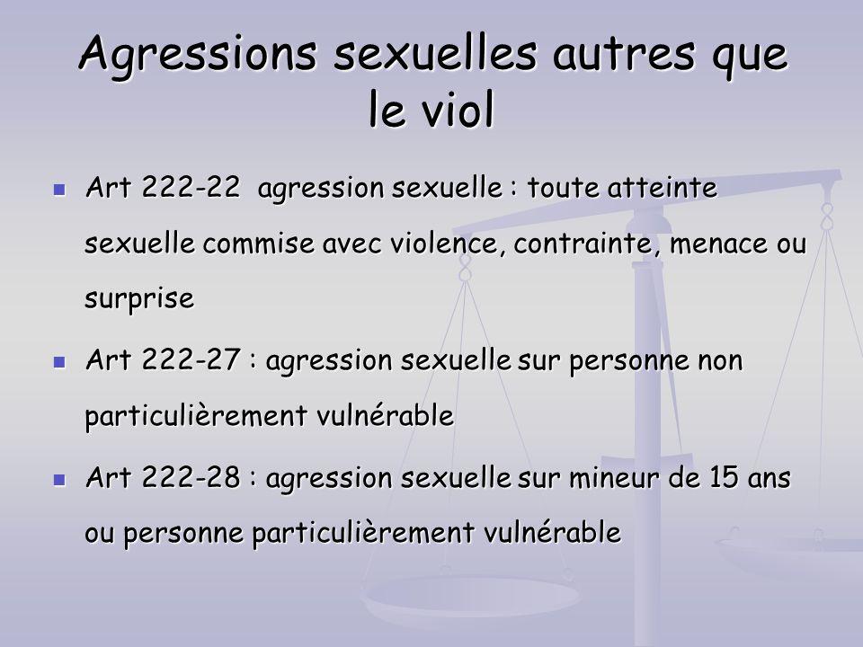 Agressions sexuelles autres que le viol