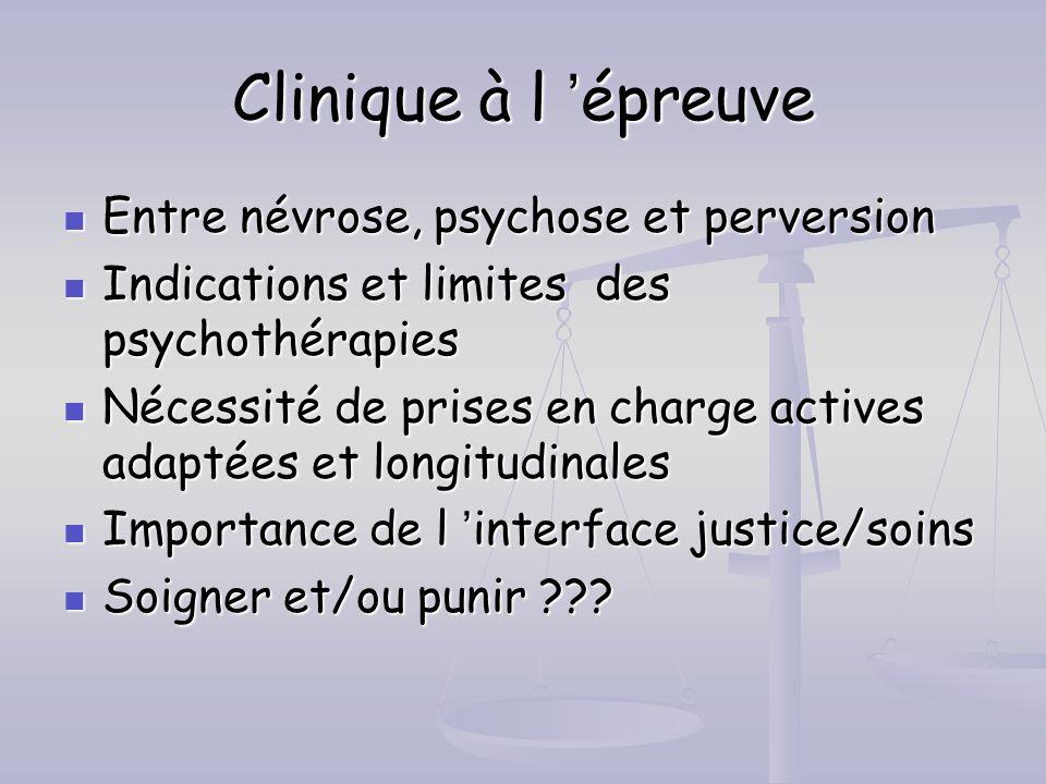 Clinique à l 'épreuve Entre névrose, psychose et perversion