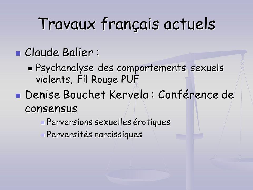 Travaux français actuels
