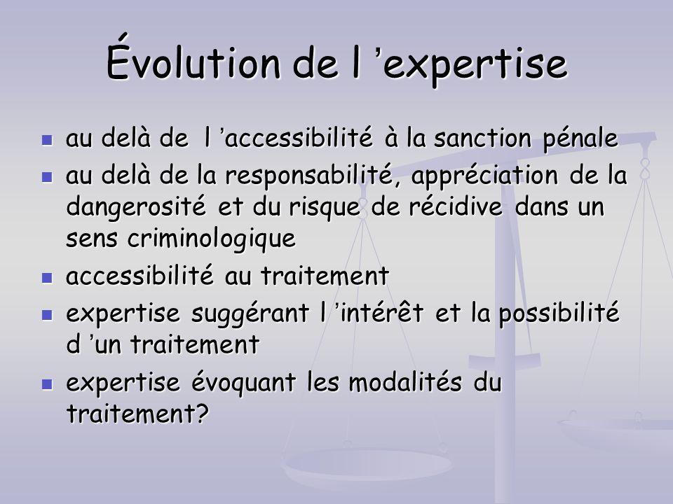 Évolution de l 'expertise