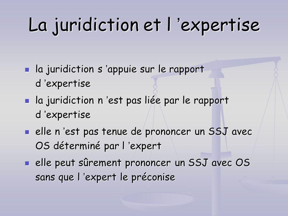 La juridiction et l 'expertise