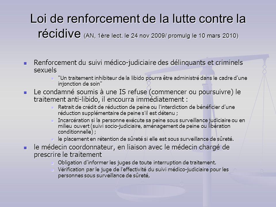 Loi de renforcement de la lutte contre la récidive (AN, 1ère lect