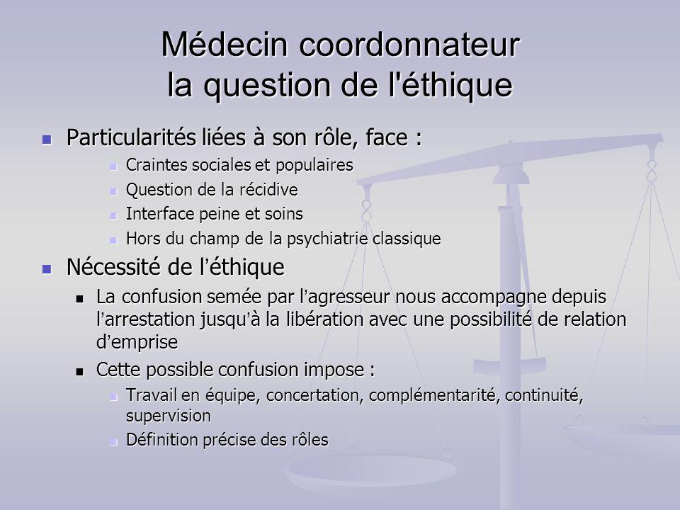 Médecin coordonnateur la question de l éthique