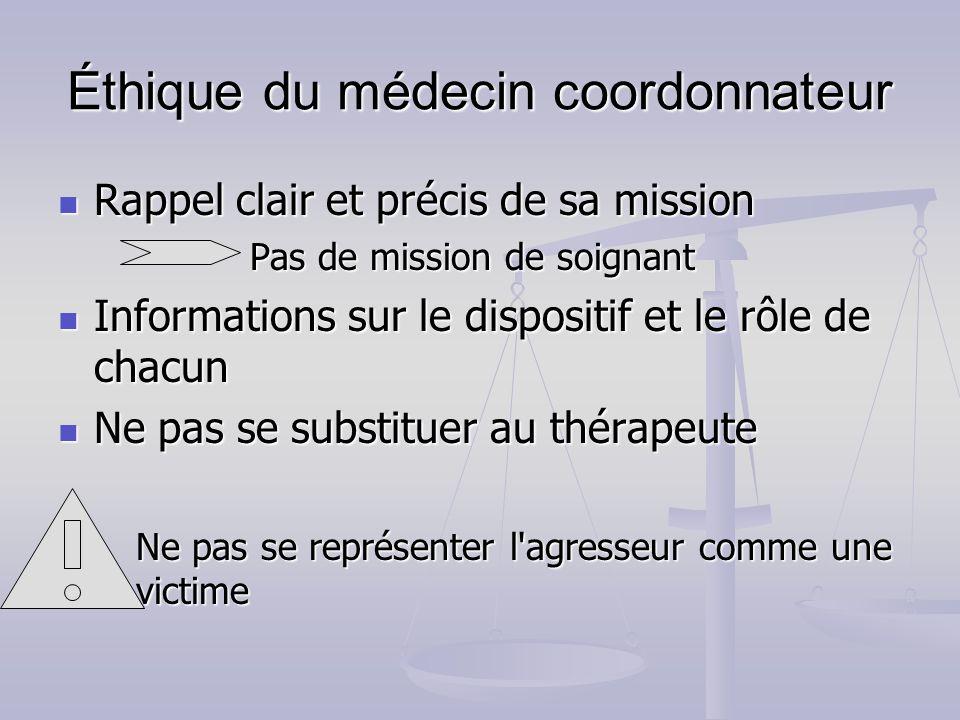 Éthique du médecin coordonnateur