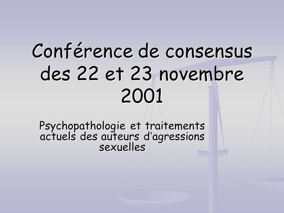 Conférence de consensus des 22 et 23 novembre 2001