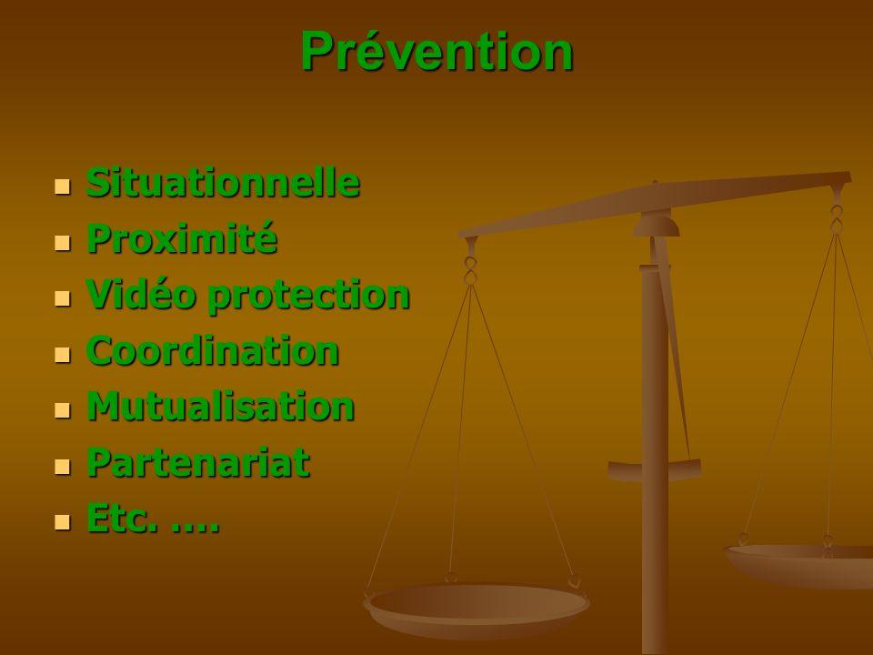 Prévention Situationnelle Proximité Vidéo protection Coordination